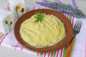 Картофельное пюре с молоком
