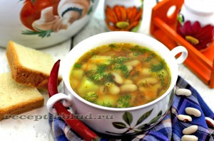 Овощной суп из фасоли