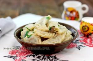 Вкусные вареники с картошкой и грибами