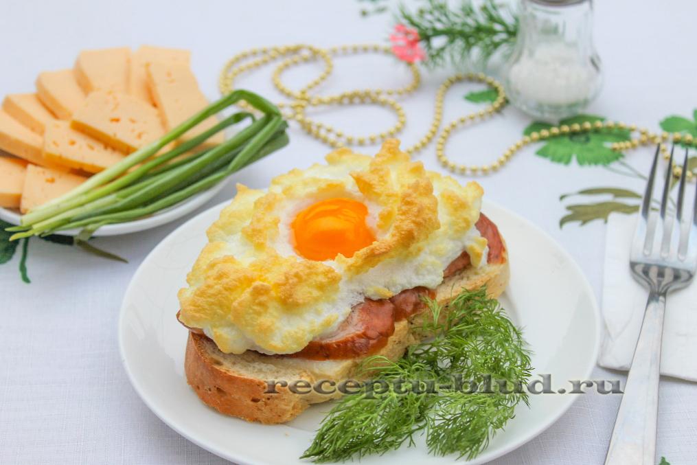 """Красивая яичница в духовке - """"Солнце в облаках"""""""