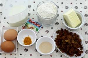 необходимые ингредиенты на пасхальный кулич