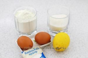 Необходимые ингредиенты для приготовления лимонного пирога