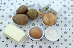 Продукты, необходимые для приготовления картофельных котлет
