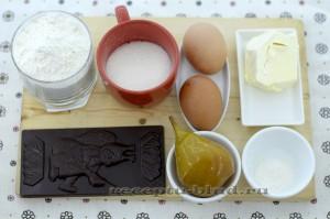 Ингредиенты для приготовления шоколадного кекса