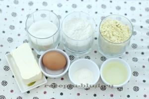 Ингредиенты для приготовления кукурузного печенья