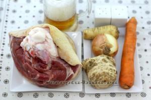 Продукты для приготовления рульки по-баварски