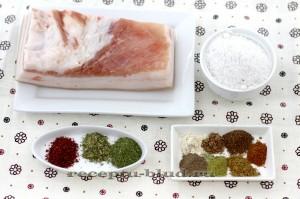 продукты для готовки соленого сала