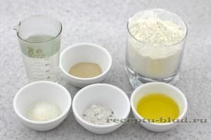 Ингредиенты для приготовления домашних багетов