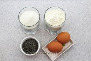 Ингредиенты для приготовления бисквита в мультиварке
