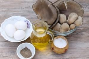 Ингредиенты для приготовления грибов вешенок