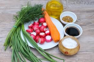 Ингредиенты для салата из свежей моркови