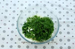 Творожная начинка с зеленью