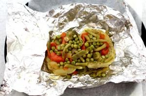 Запеченное мясо с овощами в духовке