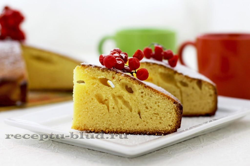 Кекс на сгущенке - рецепт приготовления