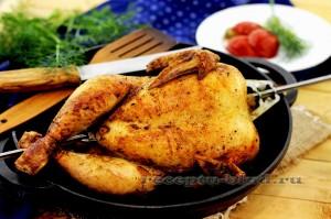 Домашняя курица гриль в духовке