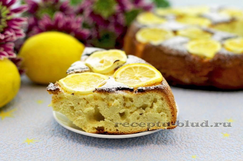 Лимонный пирог домашний