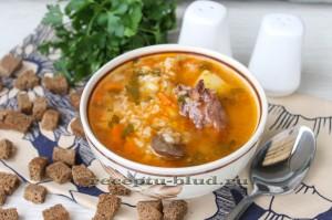 Суп харчо с сердечками в мультиварке