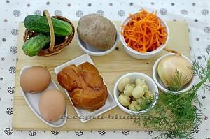 """Ингредиенты для """"Грибной поляны"""" с курицей"""