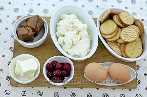 Ингредиенты для приготовления чизкейка с вишней
