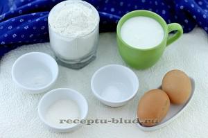 Ингредиенты для приготовления оладьей на простокваше