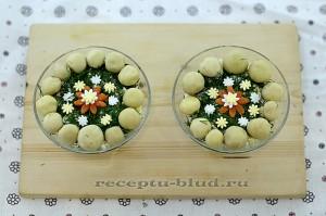 Салат грибная поляна - рецепт с фото