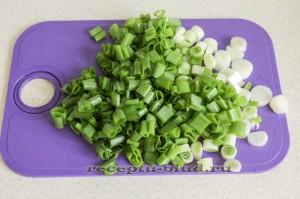 Измельчите зеленый лук