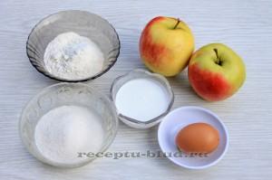 Ингредиенты для приготовления яблок жареных