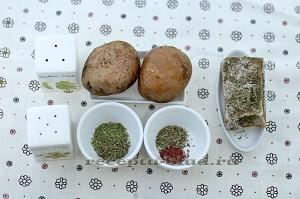 Ингредиенты для картофеля на гриле