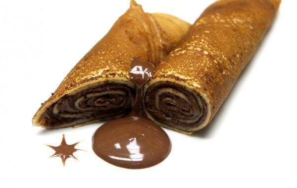 Блинчики с шоколадным кремом