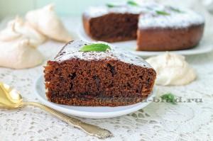 Шоколадный бисквит - рецепт с фото в мультиварке